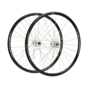 MICHE X-PRESS - Laufradsatz schwarz - Doppelgewinde für Freilauf oder starren Gang