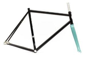 Brother cycles Rahmenset R725 blck blue schwarz blau seitenansicht