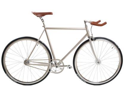 blb city classic fixie single speed bike wbullhorn chapmpagne
