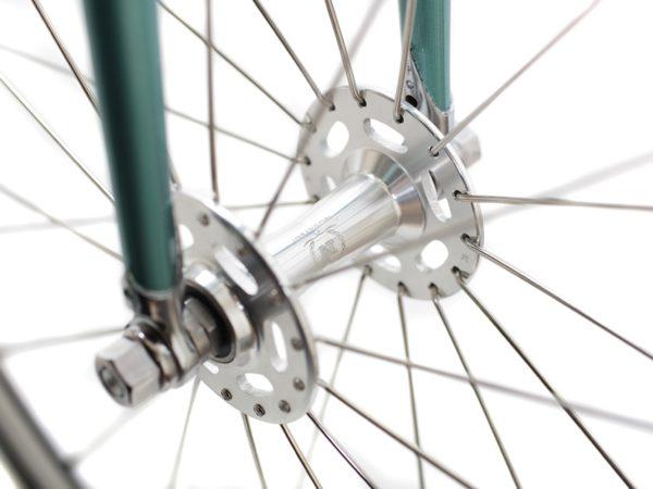 blb city classic fixie single speed bike wbullhorn derby green