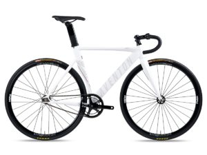 aventon mataro fixie single speed bike white