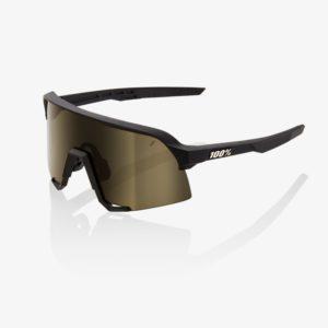 S3-bike-glasses-Soft Tact Black Soft Gold Lens