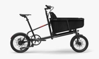 YOONIT mini cargo bike family Black